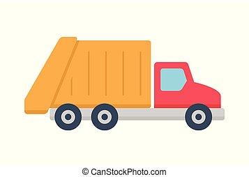 トラック, ごみ, アイコン