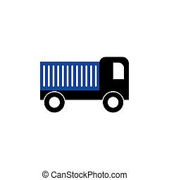 トラック, イラスト, テンプレート, 貨物, ベクトル, デザイン