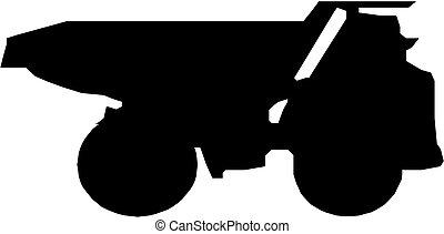 トラック, シルエット, ゴミ捨て場