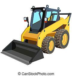 トラック, スクレーパー, 黄色