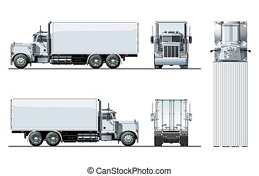 トラック, テンプレート, 隔離された, 白, ベクトル