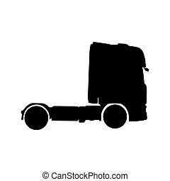 トラック, ベクトル, シルエット