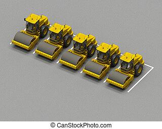 トラック, リンク, 駐車
