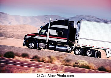 トラック, 半, ハイウェー