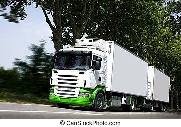 トラック, 半, 道