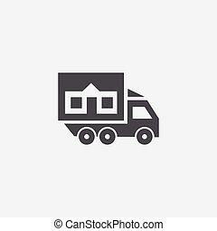 トラック, 家, アイコン