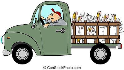 トラック, 強く引くこと, 七面鳥
