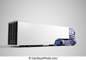 トラック, 後部光景, ハイブリッド, 電気である