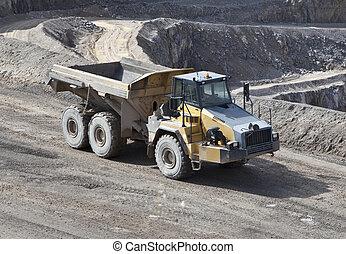 トラック, 採石場, ゴミ捨て場