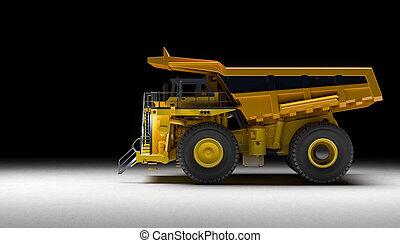 トラック, 採石場, 背景