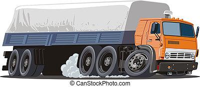 トラック, 漫画, 半