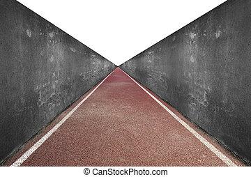 トラック, 灰色, 動くこと, 壁, コンクリート