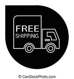 トラック, 無料で, 出荷, ラウンド