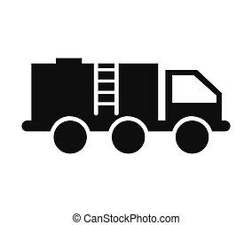 トラック, 産業, オイル タンク, アイコン