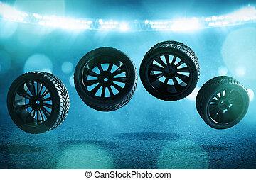 トラック, 自動車レース, タイヤ