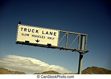 トラック, 車線