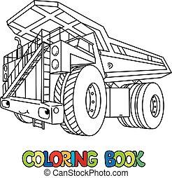 トラック, 重い, ゴミ捨て場, 本, 自動車, 着色, 目, 面白い