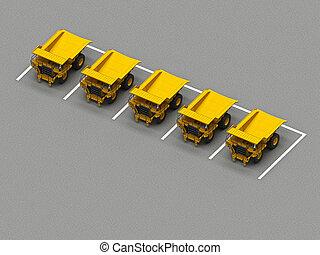 トラック, 駐車, 鉱山