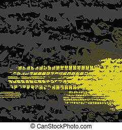 トラック, 黄色, タイヤ, 背景