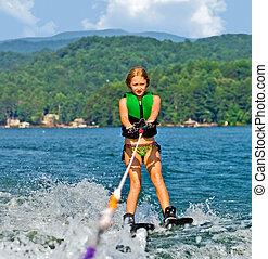 トリック, 女の子, スキーをする