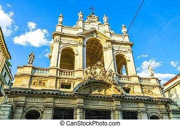 トリノ, 歴史的, イタリア, 教会