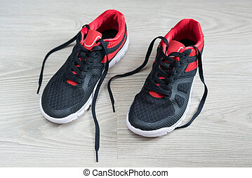 トリム, 床, 靴, 赤, 平ら, 動くこと
