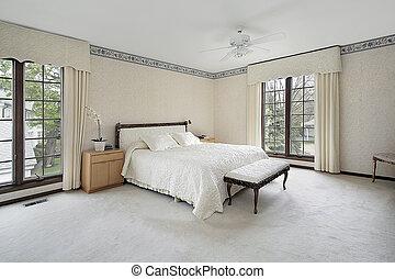 トリム, 窓, 木, マスター, 寝室