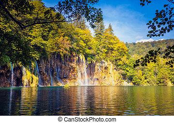 トルコ石, 滝, 水