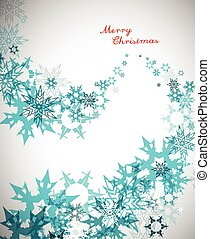 トルコ石, 雪片, 縦, テキスト, -, 背景, バージョン, メリークリスマス, 赤