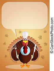 トルコ, ∥で∥, シェフの帽子, 中に, 感謝祭, 日