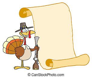 トルコ, ∥で∥, 巡礼者, 帽子, そして, マスケット銃