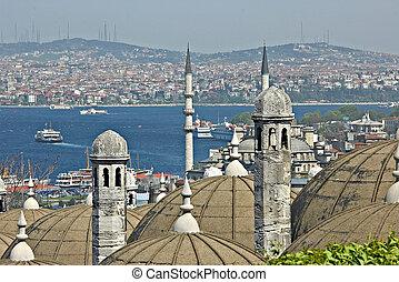 トルコ, トルコ語, ポイント, bosporus., 興味, 光景