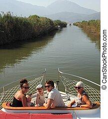 トルコ, ボート旅行, 家族