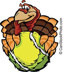 トルコ, ボール, イメージ, テニス, 感謝祭, ベクトル, 保有物, 休日, 漫画