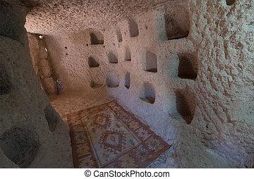 トルコ, 内部, 洞穴, 住居, cappadocia.