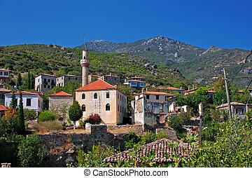 トルコ, 古い, 捨てられた, doganbey, greek/turkish, 村