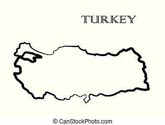 トルコ, 地図