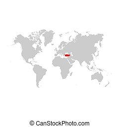 トルコ, 地図, 世界
