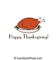 トルコ, 感謝祭, イラスト, 幸せ
