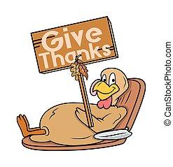 トルコ, 感謝祭, 板, 鳥