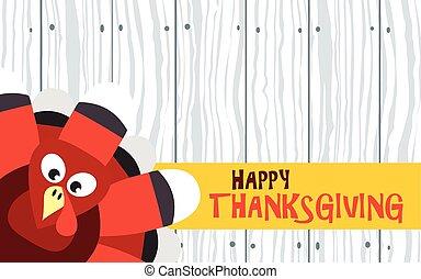 トルコ, 板, ベクトル, 感謝祭, 木, カード, 幸せ