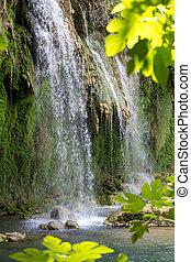 トルコ, 自然, 公園, kursunlu, 滝, antalya.