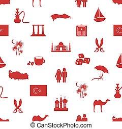トルコ, eps10, 国, seamless, シンボル, 主題, パターン
