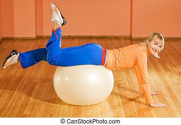 トレーナー, fitball, フィットネス