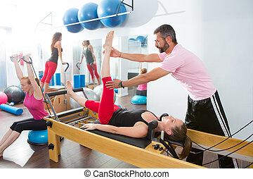 トレーナー, pilates, 好気性, キャデラック, 個人的, 人