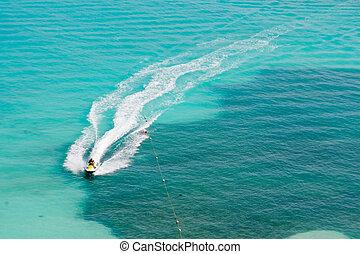 トロピカル, スキーをする, ジェット機