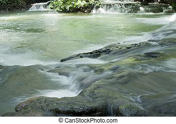 トロピカル, タイ, 森林, 滝