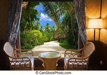 トロピカル, ホテルの部屋, 風景