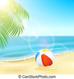 トロピカル, ボール, 浜