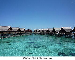 トロピカル, リゾート, 浜, マレーシア